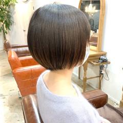 縮毛矯正 ボブ ナチュラル ストレート ヘアスタイルや髪型の写真・画像