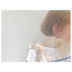 ウェーブ アウトドア ボブ アンニュイ ヘアスタイルや髪型の写真・画像