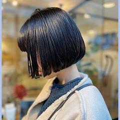 ショートボブ ミニボブ 黒髪 ナチュラル ヘアスタイルや髪型の写真・画像