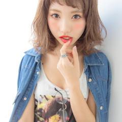 ショートバング ゆるふわ ストリート 外国人風 ヘアスタイルや髪型の写真・画像