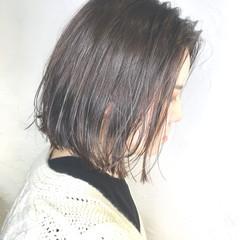 ミルクティーベージュ ボブ ラベンダーピンク アッシュベージュ ヘアスタイルや髪型の写真・画像