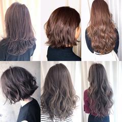 ロング ベージュ アッシュ アッシュグレージュ ヘアスタイルや髪型の写真・画像