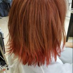 ガーリー ピンク ウェットヘア グラデーションカラー ヘアスタイルや髪型の写真・画像