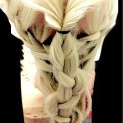 簡単ヘアアレンジ ロング フェミニン ショート ヘアスタイルや髪型の写真・画像