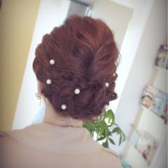 まとめ髪 結婚式 ヘアアレンジ 上品 ヘアスタイルや髪型の写真・画像
