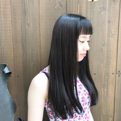 ダークアッシュ ナチュラル ツヤ髪 ダークトーン ヘアスタイルや髪型の写真・画像