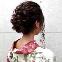 ヘアアレンジ ヘアセット エレガント アップ ヘアスタイルや髪型の写真・画像