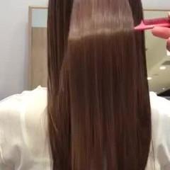 ストレート 髪質改善 ロング 360度どこからみても綺麗なロングヘア ヘアスタイルや髪型の写真・画像