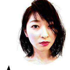 ウェットヘア ナチュラル ミディアム 卵型 ヘアスタイルや髪型の写真・画像