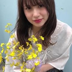 アンニュイ セミロング 透明感 簡単ヘアアレンジ ヘアスタイルや髪型の写真・画像