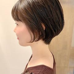 ナチュラル ショート ベリーショート 大人かわいい ヘアスタイルや髪型の写真・画像