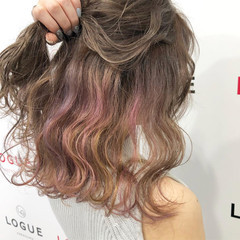 ミディアム グラデーションカラー ダブルカラー 外国人風カラー ヘアスタイルや髪型の写真・画像