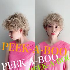 ハイトーン アンニュイほつれヘア ストリート マッシュショート ヘアスタイルや髪型の写真・画像