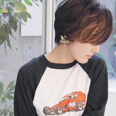 外国人風カラー 小顔ショート ショート ストリート ヘアスタイルや髪型の写真・画像