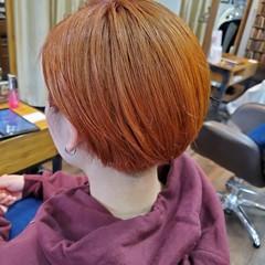 ナチュラルグラデーション ガーリー コントラストハイライト ショート ヘアスタイルや髪型の写真・画像