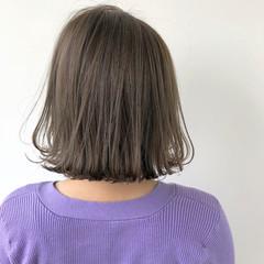 ヌーディベージュ ナチュラル ボブ 大人かわいい ヘアスタイルや髪型の写真・画像