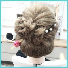 和服 成人式 編み込み ロング ヘアスタイルや髪型の写真・画像