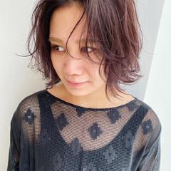 レイヤーカット レイヤースタイル レイヤー 外ハネボブ ヘアスタイルや髪型の写真・画像