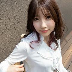 パーマ エレガント セミロング 韓国風ヘアー ヘアスタイルや髪型の写真・画像