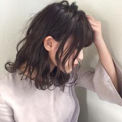 パーマ ミディアム ストリート くせ毛風 ヘアスタイルや髪型の写真・画像