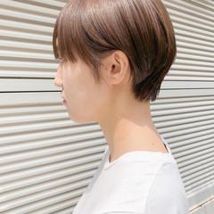 ベリーショート ナチュラル ハイライト ショートボブ ヘアスタイルや髪型の写真・画像