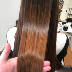 髪質改善 ナチュラル エアーストレート ロング ヘアスタイルや髪型の写真・画像