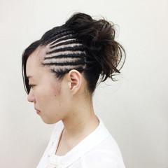 ストリート ヘアアレンジ アップスタイル 花火大会 ヘアスタイルや髪型の写真・画像