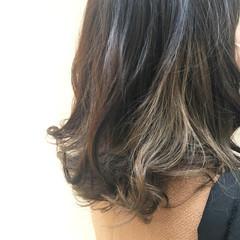 春 ブリーチ ミディアム 個性的 ヘアスタイルや髪型の写真・画像