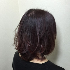 ボブ グラデーションカラー 暗髪 大人かわいい ヘアスタイルや髪型の写真・画像