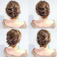 ボブ 簡単ヘアアレンジ デート フェミニン ヘアスタイルや髪型の写真・画像