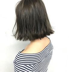 ストリート アッシュ 前髪あり ハイライト ヘアスタイルや髪型の写真・画像