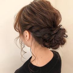 ヘアセット 二次会アレンジ ナチュラル シニヨン ヘアスタイルや髪型の写真・画像