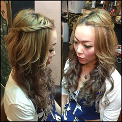 ヘアアレンジ 渋谷系 簡単ヘアアレンジ 外国人風 ヘアスタイルや髪型の写真・画像