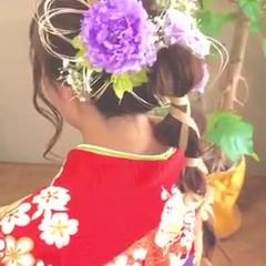 ガーリー 卒業式 ヘアアレンジ お呼ばれヘア ヘアスタイルや髪型の写真・画像