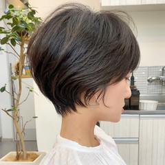 ショートヘア アッシュベージュ ショート ベージュ ヘアスタイルや髪型の写真・画像