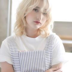 簡単ヘアアレンジ 透明感カラー 外国人風フェミニン 外国人風カラー ヘアスタイルや髪型の写真・画像