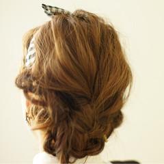 ショート ヘアアレンジ ボブ 簡単ヘアアレンジ ヘアスタイルや髪型の写真・画像