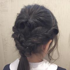 謝恩会 ロング ナチュラル ヘアアレンジ ヘアスタイルや髪型の写真・画像