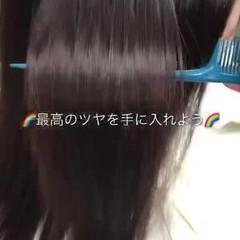 縮毛矯正 ナチュラル セミロング 髪質改善 ヘアスタイルや髪型の写真・画像