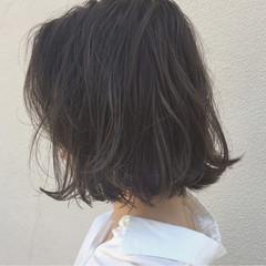 外ハネ 切りっぱなし ボブ 外国人風 ヘアスタイルや髪型の写真・画像