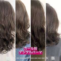 ナチュラル セミロング ハイライト イルミナカラー ヘアスタイルや髪型の写真・画像