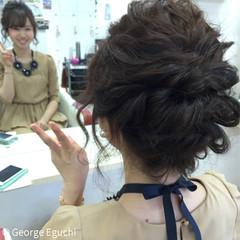 結婚式 波ウェーブ 外国人風 ヘアアレンジ ヘアスタイルや髪型の写真・画像