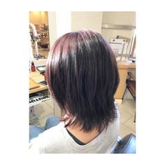 艶髪 ミディアム 秋 フェミニン ヘアスタイルや髪型の写真・画像