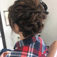 ショート ヘアアレンジ フェミニン 簡単ヘアアレンジ ヘアスタイルや髪型の写真・画像