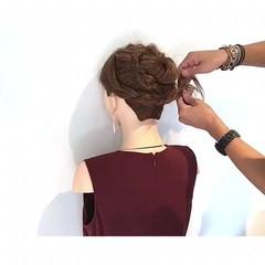 簡単ヘアアレンジ エレガント 色気 ヘアアレンジ ヘアスタイルや髪型の写真・画像