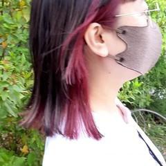 セミロング ウルフカット インナーカラー ストリート ヘアスタイルや髪型の写真・画像