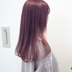 ラベンダーピンク ピンク ピンクラベンダー ロング ヘアスタイルや髪型の写真・画像