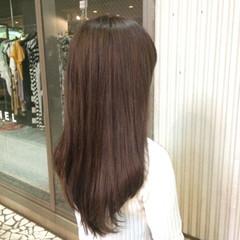 ショコラブラウン 大人かわいい ストレート ロング ヘアスタイルや髪型の写真・画像