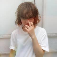 ストリート 外国人風 ボブ ウェットヘア ヘアスタイルや髪型の写真・画像