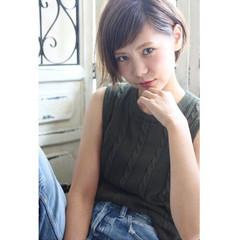 大人かわいい ショート レイヤーカット ストリート ヘアスタイルや髪型の写真・画像